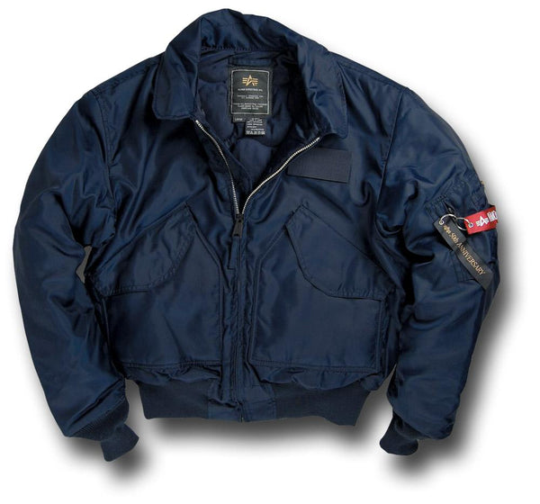 ALPHA CWU NYLON FLYING JACKET - BLUE