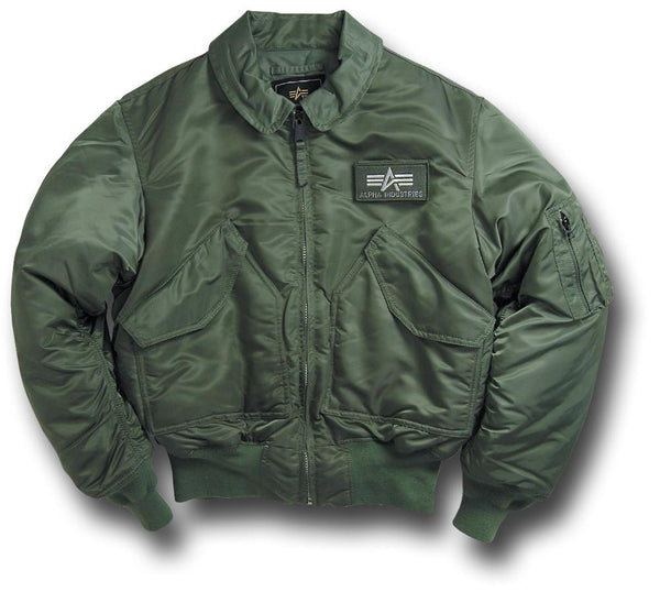 ALPHA CWU NYLON FLYING JACKET - GREEN