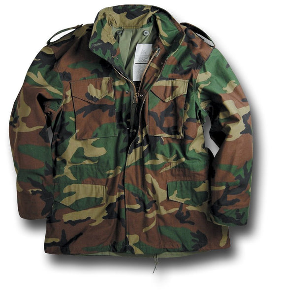 ALPHA M65 COMBAT JACKET - WOODLAND
