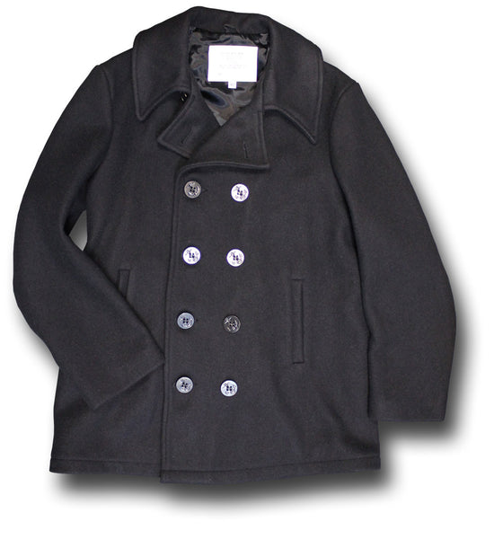 USA NAVY PEA COAT, USA-MADE - Silvermans  - 2