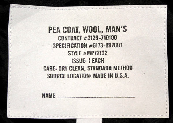 USA NAVY PEA COAT, USA-MADE - Silvermans  - 7