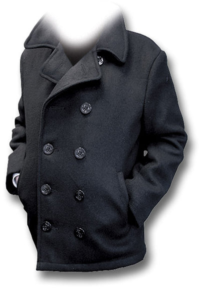 USA NAVY PEA COAT, USA-MADE - Silvermans  - 4