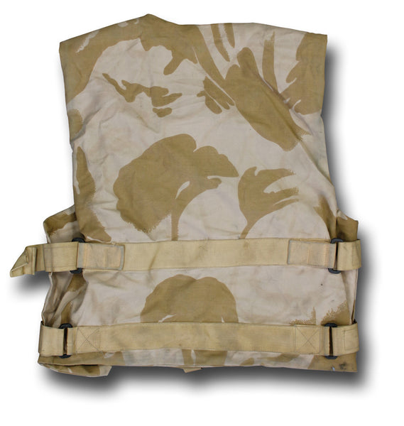 DESERT BODY ARMOUR COVER, USED - BACK