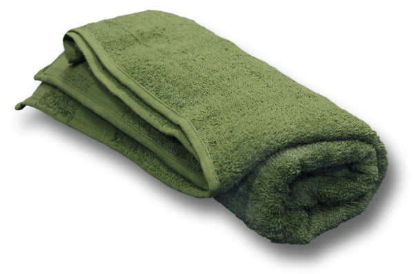 ARMY ISSUE GREEN COTTON TOWEL