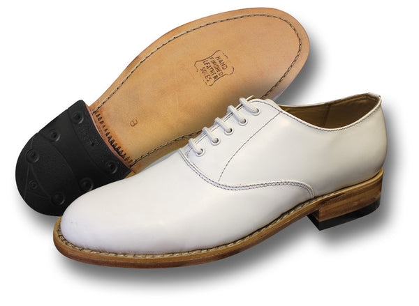 WHITE NAVAL SHOES - Silvermans
