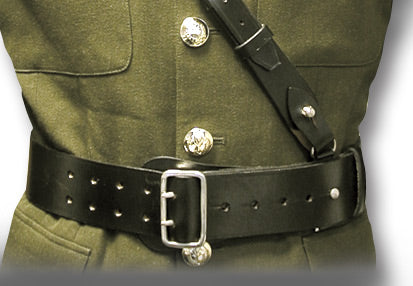 SAM BROWNE BELT & CROSS STRAP - Silvermans  - 3