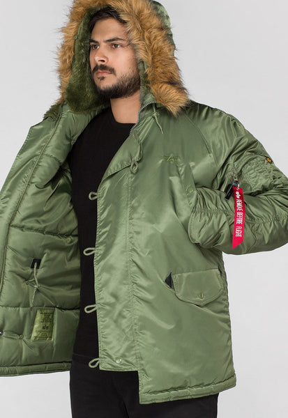 ALPHA N3B EXTREME COLD PARKA - GREEN
