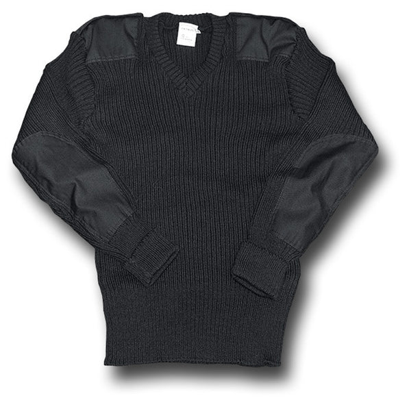 WOOLLY PULLY V-NECK BLACK - Silvermans  - 3