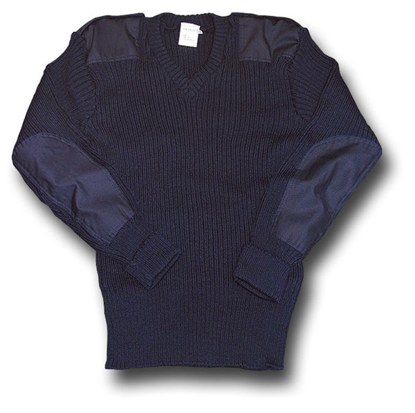 WOOLLY PULLY V-NECK NAVY - Silvermans  - 3