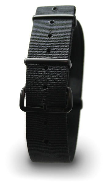 PHOENIX NATO ISSUE WATCH STRAP - BLACK & BLACK