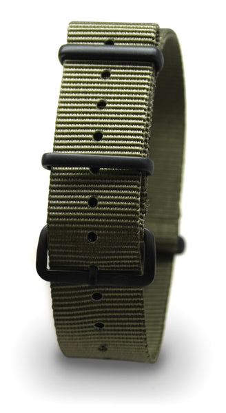 CWC NATO WATCH STRAP - GREEN WITH BLACK BUCKLE