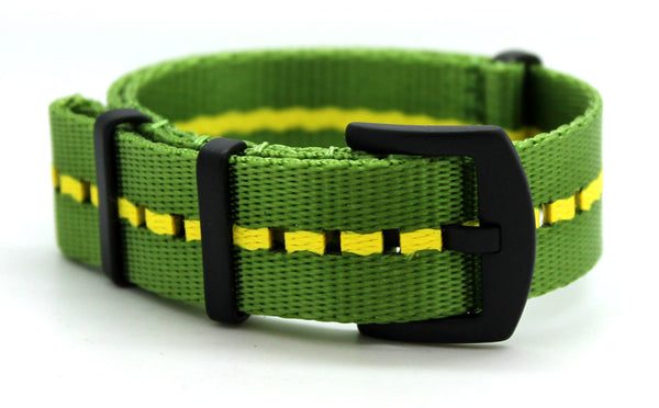 CWC SB NATO WATCH STRAP - LEMON & LIME