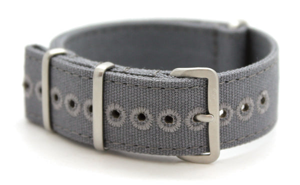 CWC VINTAGE CANVAS NATO STRAP - GREY
