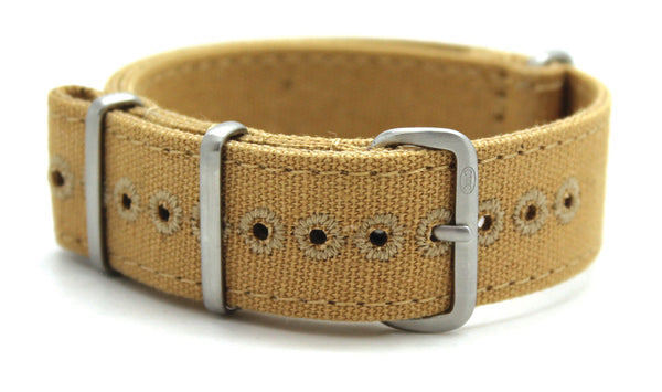 CWC VINTAGE CANVAS NATO STRAP - TAN