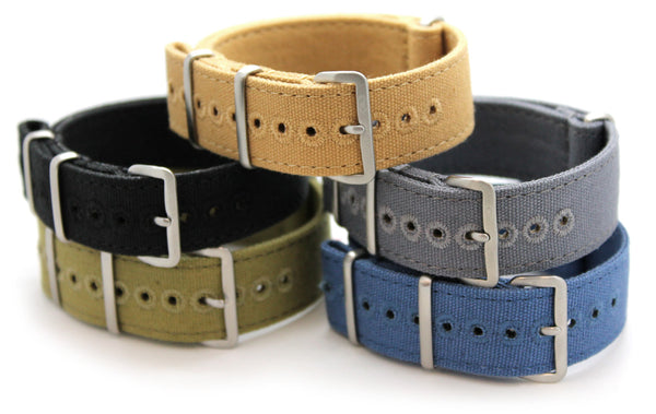 CWC VINTAGE CANVAS NATO STRAP - ALL COLOURS