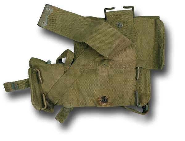 WWI KHAKI POUCH LEFT AND RIGHT