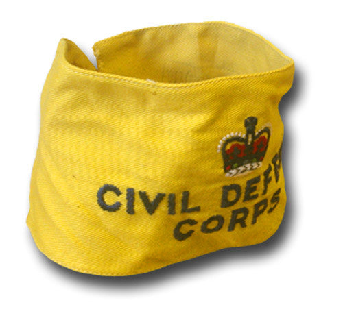 CIVIL DEFENCE CORPS ARMBAND QC - Silvermans  - 1