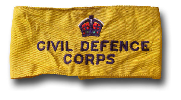 CIVIL DEFENCE CORPS ARMBAND KC - Silvermans  - 2