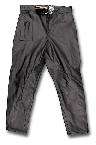 DESPATCH RIDER BREECHES BLACK - LAID FLAT