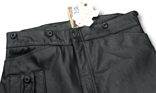 DESPATCH RIDER BREECHES BLACK - WAIST DETAIL
