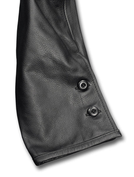 DESPATCH RIDER BREECHES BLACK - LEG BUTTONS