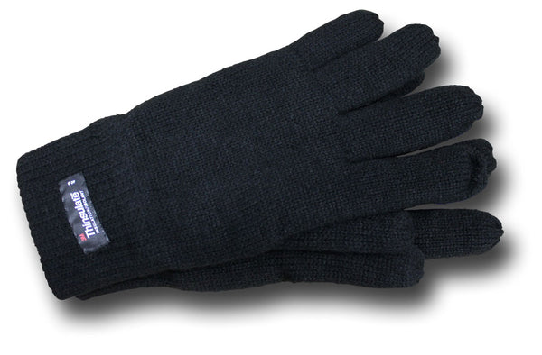 THINSULATE LINED GLOVES - BLACK