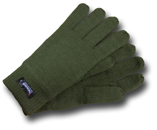 THINSULATE LINED GLOVES - GREEN