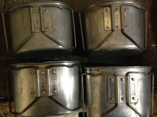 44 PATTERN ALUMINIUM MUG DATED - Silvermans