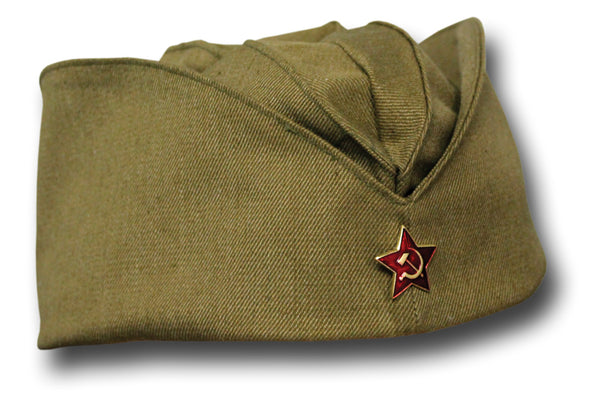 RUSSIAN FORAGE CAP WITH BADGE