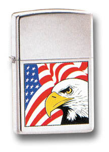 EAGLE & FLAG ZIPPO LIGHTER - Silvermans  - 2
