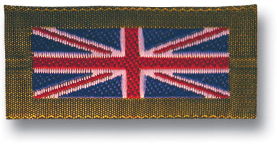 UNION JACK BADGE GREEN BORDER