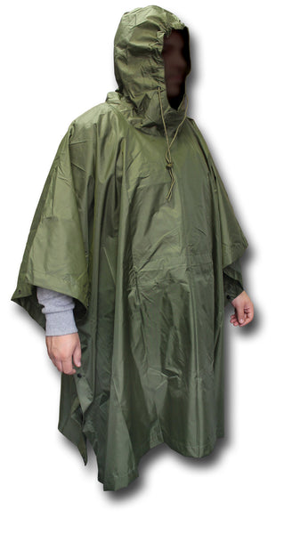 CWCW GREEN LIGHTWEIGHT PONCHO - Silvermans
