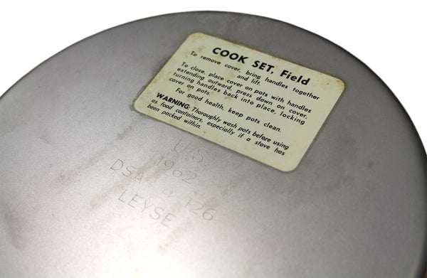 US ARMY COOKSET CIRCA 1960s - LABEL