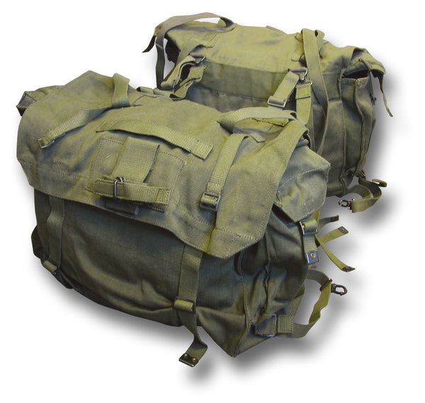 GREEN MOTORCYCLE PANNIERS - Silvermans - 1