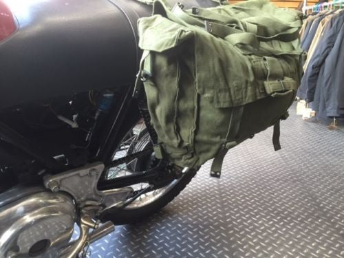 GREEN MOTORCYCLE PANNIERS - Silvermans  - 3