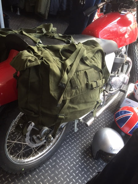 canvas motorcycle panniers
