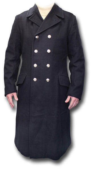 ROYAL NAVY BLUE OVERCOAT NEW