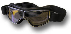 RETRO PILOT CHROME GOGGLES - Silvermans  - 2