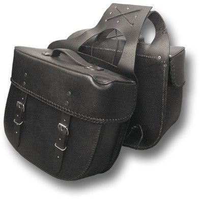 LEATHER SADDLE BAG PANNIERS - Silvermans