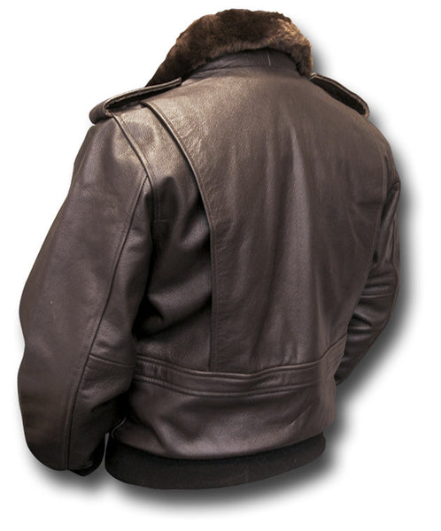 GTH A3 BROWN LEATHER JACKET - Silvermans  - 2
