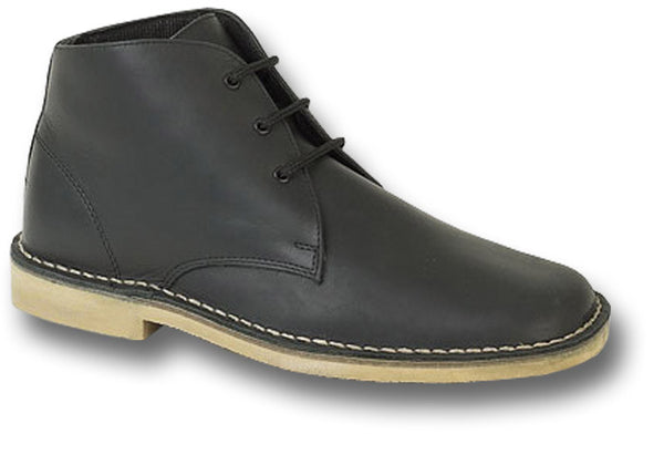 WAXY LEATHER ANKLE BOOTS - Silvermans  - 1