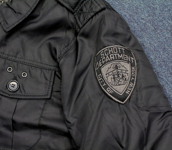 SCHOTT POLICE JANZX JACKET - BADGE