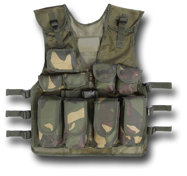 KIDS ASSAULT VEST - WOODLAND CAMMO