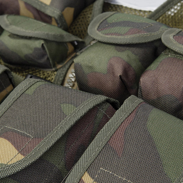 KIDS ASSAULT VEST - WOODLAND CAMMO - DETAIL