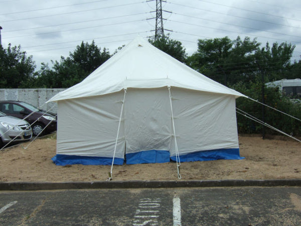 12X12 WHITE CANVAS FRAME TENT - Silvermans  - 2