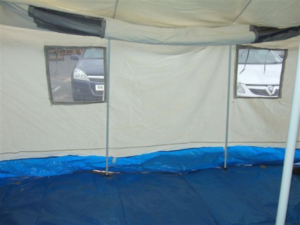 12X12 WHITE CANVAS FRAME TENT - Silvermans  - 3