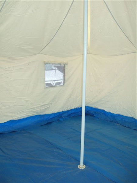 12X12 WHITE CANVAS FRAME TENT - Silvermans  - 4