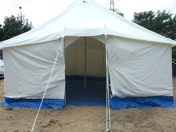 12X12 WHITE CANVAS FRAME TENT - Silvermans  - 1