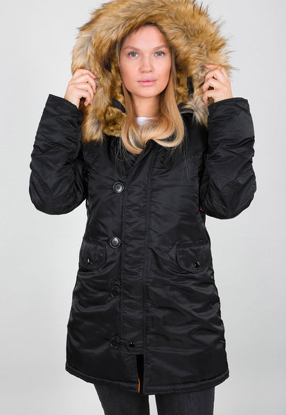 ALPHA WOMENS N3B VF59 PARKA - BLACK