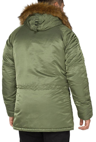 ALPHA N3B SLIM FIT PARKA MENS